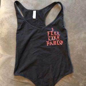 """""""i feel like pablo"""" bodysuit"""